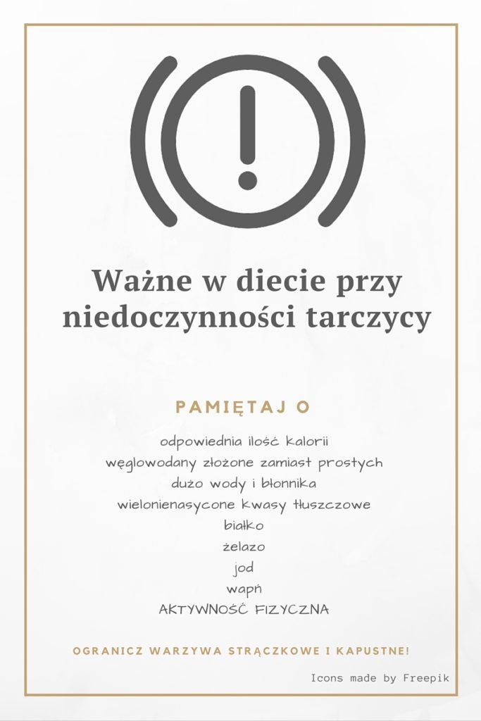 dieta niedoczynność tarczycy